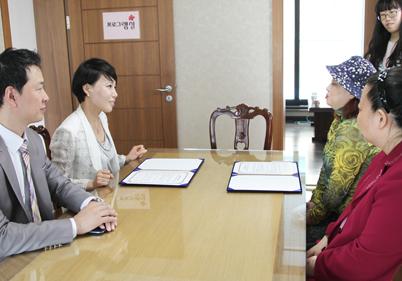 쥬비스와 (사)한국시각장애인여성회가 함께하는 시각장애 여성 대상 사회공헌 협약식